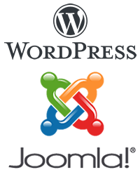 Logo Joomla et Wordpress